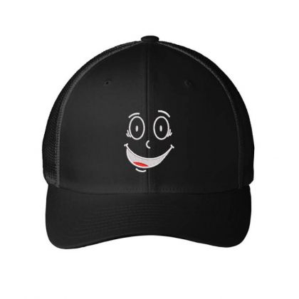 Funny Face Embroidered Hat Embroidered Mesh Cap Designed By Madhatter