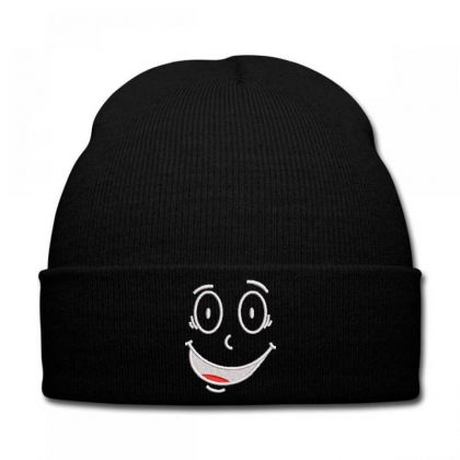 Funny Face Embroidered Hat Knit Cap Designed By Madhatter