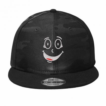 Funny Face Embroidered Hat Camo Snapback Designed By Madhatter
