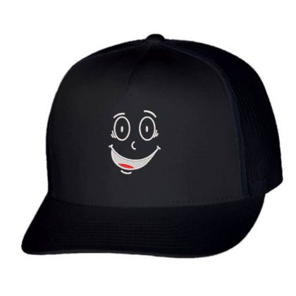 Funny Face Embroidered Hat Trucker Cap Designed By Madhatter