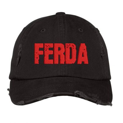 Ferda Embroidered Hat Distressed Cap Designed By Madhatter