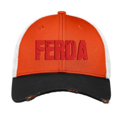 Ferda Embroidered Hat Vintage Mesh Cap Designed By Madhatter