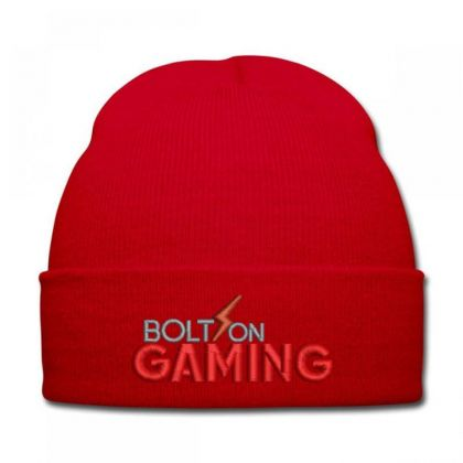 Bolt On Gaming Embroidered Hat Knit Cap Designed By Madhatter