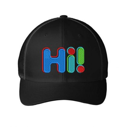 Hi...!!!!!! Embroidered Hat Embroidered Mesh Cap Designed By Madhatter