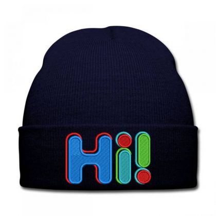 Hi...!!!!!! Embroidered Hat Knit Cap Designed By Madhatter