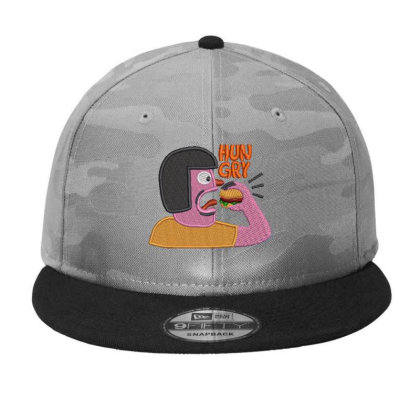 Hungry Embroidered Hat Camo Snapback Designed By Madhatter