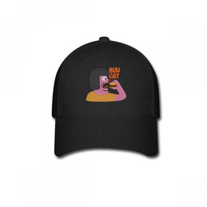 Hungry Embroidered Hat Baseball Cap Designed By Madhatter