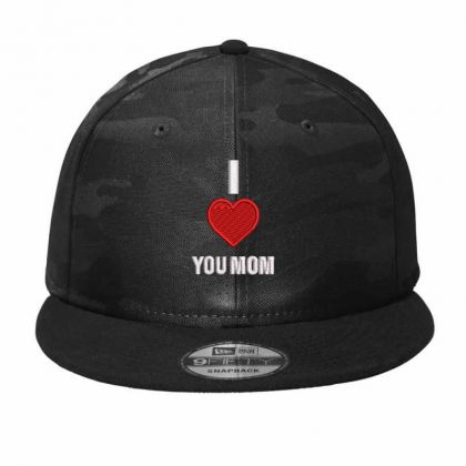 I Love You Mom Camo Snapback Designed By Madhatter