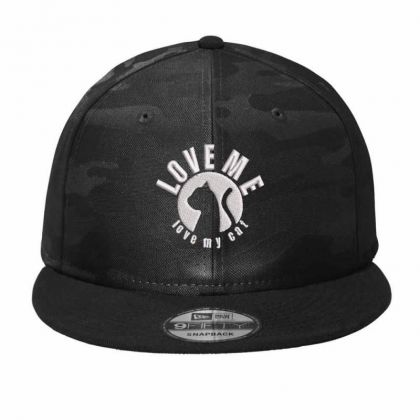 Love Me Love My Cat Embroidered Hat Camo Snapback Designed By Madhatter