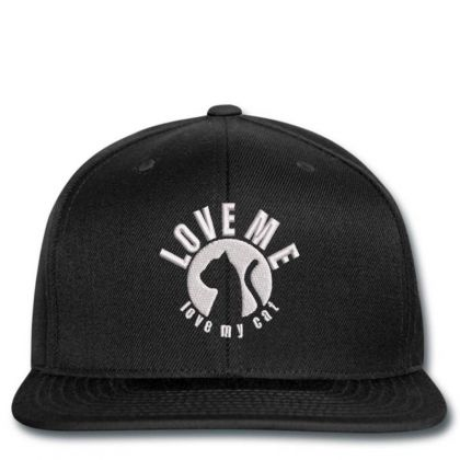 Love Me Love My Cat Embroidered Hat Snapback Designed By Madhatter