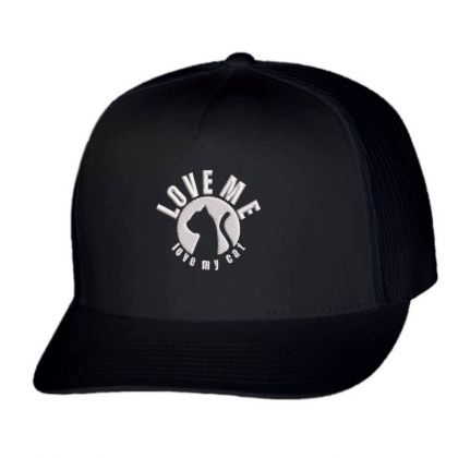 Love Me Love My Cat Embroidered Hat Trucker Cap Designed By Madhatter