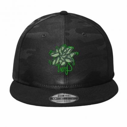 Lucky Embroidered Hat Camo Snapback Designed By Madhatter