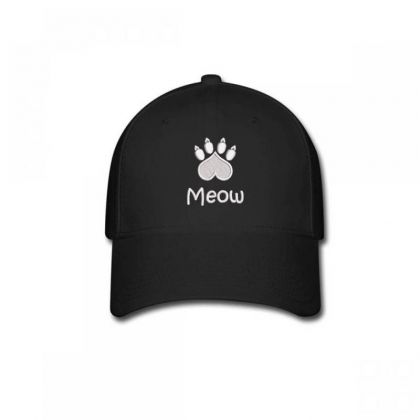 Meow Paw Embroidered Hat Baseball Cap Designed By Madhatter