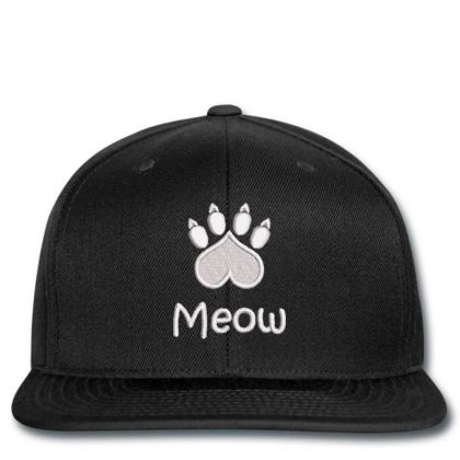 Meow Paw Embroidered Hat Snapback Designed By Madhatter