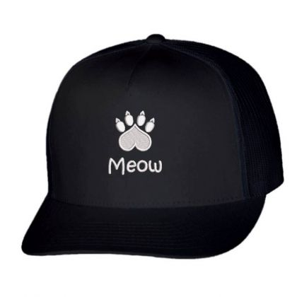 Meow Paw Embroidered Hat Trucker Cap Designed By Madhatter