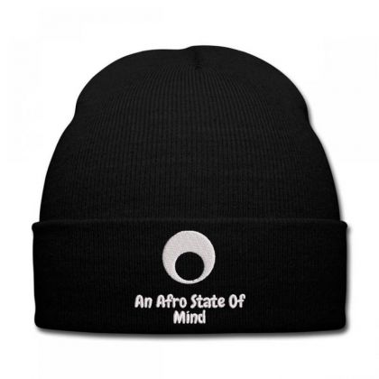 An Aftro State Of Mind Embroidered Hat Knit Cap Designed By Madhatter