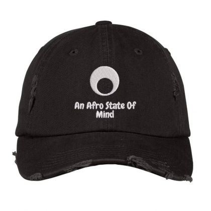 An Aftro State Of Mind Embroidered Hat Distressed Cap Designed By Madhatter