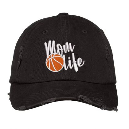 Mom Life Embroidered Hat Distressed Cap Designed By Madhatter