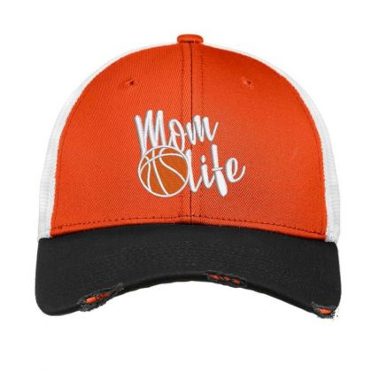 Mom Life Embroidered Hat Vintage Mesh Cap Designed By Madhatter
