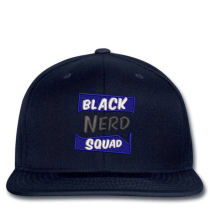 Black Nerd Squad Embroidered Hat Snapback Designed By Madhatter