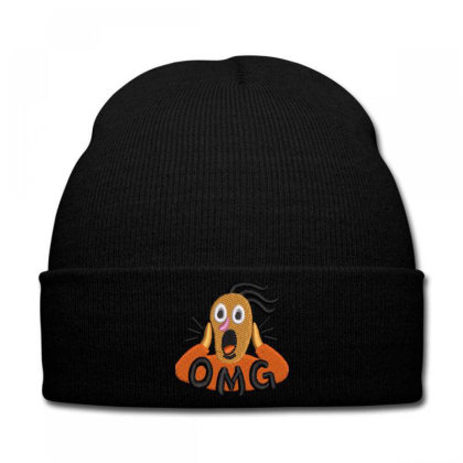 Omg Embroidered Hat Knit Cap Designed By Madhatter