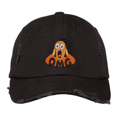 Omg Embroidered Hat Distressed Cap Designed By Madhatter