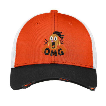 Omg Embroidered Hat Vintage Mesh Cap Designed By Madhatter