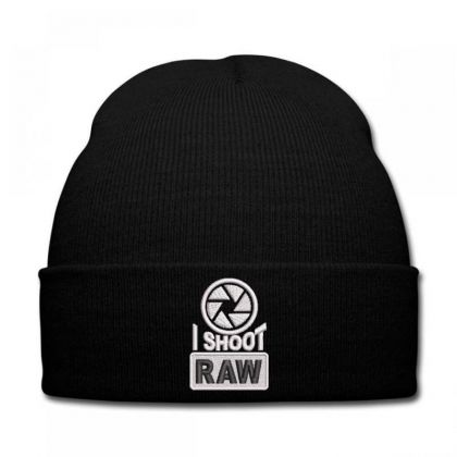 I Shoot Raw Embroidered Ha Knit Cap Designed By Madhatter