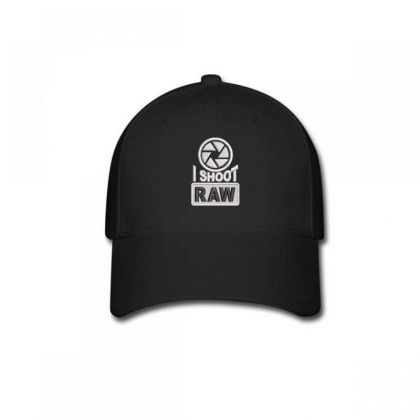 I Shoot Raw Embroidered Ha Baseball Cap Designed By Madhatter