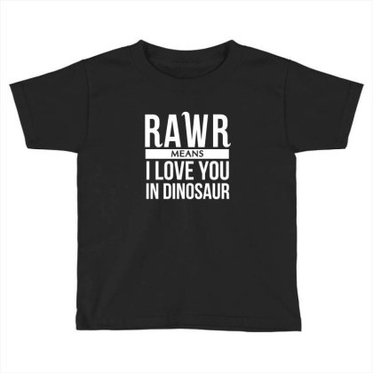 Rawr Means I Love You In Dinosaur Toddler T-shirt Designed By Hoainv