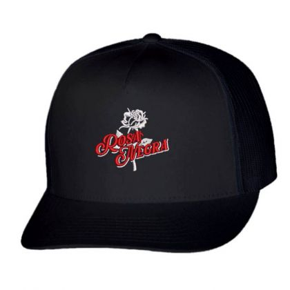 Rosa Negra Embroidered Hat Trucker Cap Designed By Madhatter