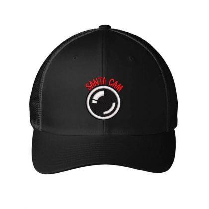 Santa Cam Embroidered Hat Embroidered Mesh Cap Designed By Madhatter