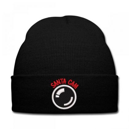 Santa Cam Embroidered Hat Knit Cap Designed By Madhatter