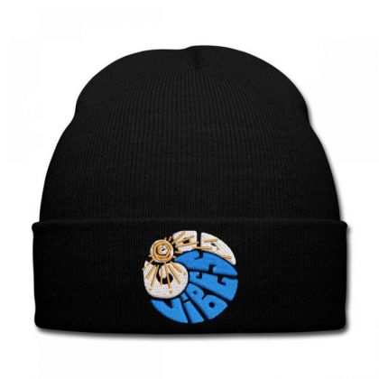 Good Vibes Embroidered Hat Knit Cap Designed By Madhatter