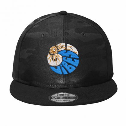 Good Vibes Embroidered Hat Camo Snapback Designed By Madhatter
