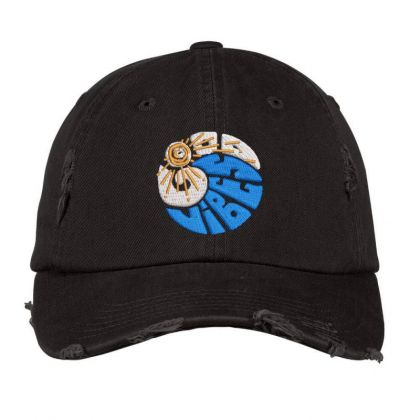 Good Vibes Embroidered Hat Distressed Cap Designed By Madhatter