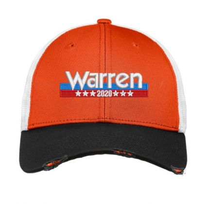 Warren 2020 Embroidered Hat Vintage Mesh Cap Designed By Madhatter