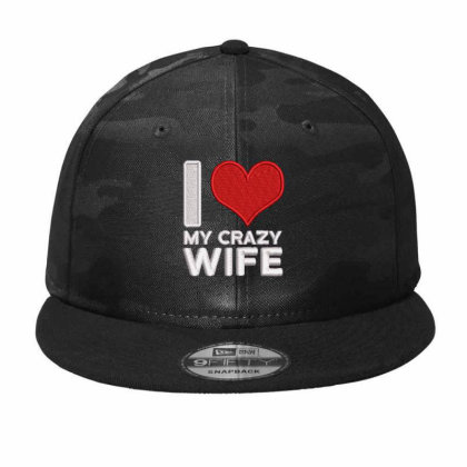 My Crazy Wife Embroidered Hat Camo Snapback Designed By Madhatter