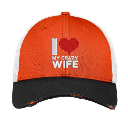 My Crazy Wife Embroidered Hat Vintage Mesh Cap Designed By Madhatter