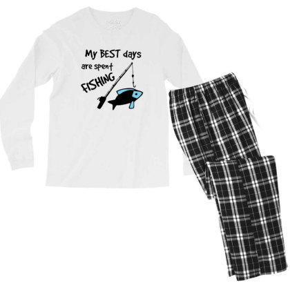 Best Days Spent Fishing Men's Long Sleeve Pajama Set Designed By Hoainv