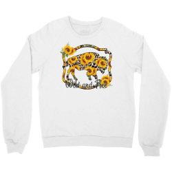 Wild and Free Sunflower Buffalo Crewneck Sweatshirt | Artistshot