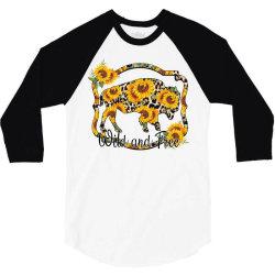 Wild and Free Sunflower Buffalo 3/4 Sleeve Shirt | Artistshot