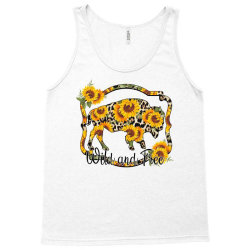 Wild and Free Sunflower Buffalo Tank Top | Artistshot