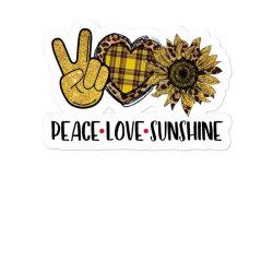 Peace Love Sunshine Sticker Designed By Badaudesign