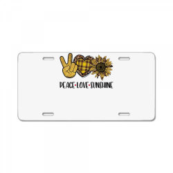 peace love sunshine License Plate | Artistshot