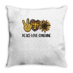 peace love sunshine Throw Pillow | Artistshot