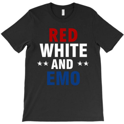 Red, White, And Emo T-shirt Designed By Cogentprint