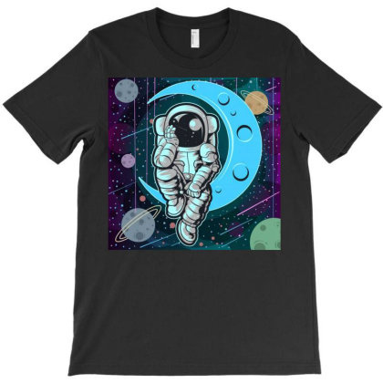 Astronaut Full Color T-shirt Designed By Salmanaz