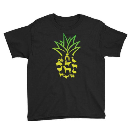 Farmer Pinapple Youth Tee Designed By Hoainv