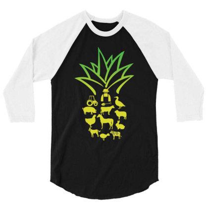 Farmer Pinapple 3/4 Sleeve Shirt Designed By Hoainv